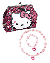 Hello Kitty Bag, Necklace & Bracelet