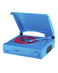 Portable 3 Speed Record Player - Blue
