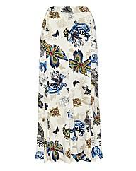 Eugen Klein Printed Jersey Skirt