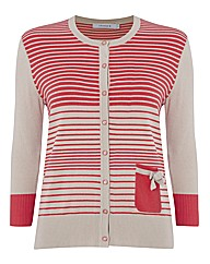 Chesca Stripe Soft-knit Cardigan