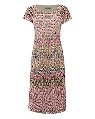 Gina Bacconi Tiered Jersey Dress