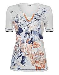 Gelco Abstract Flowers Top