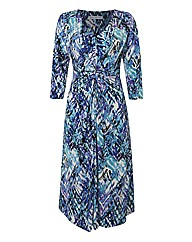 Gina Bacconi Abstract-print Jersey Dress