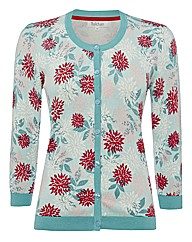 Tulchan Floral Fine-knit Cardigan