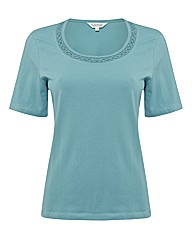 Tulchan Crochet-trim Jersey Top