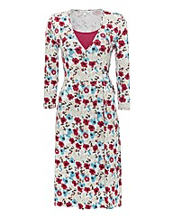 Tulchan Jersey Mock Wrap Dress