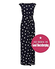 Gina Bacconi Polka Dot Maxi Dress