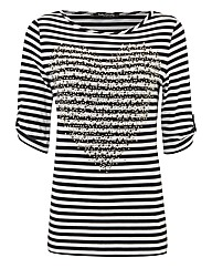 Betty Barclay Heart Stripe Jersey Top