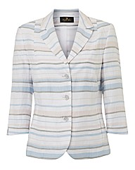 Eugen Klein Linen-mix Stripe Jacket