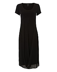 Ronen Chen Jersey & Chiffon Dress