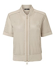 Frank Walder Perforated Jersey Jacket