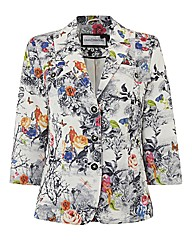 Gray & Osbourn Printed Linen-look Jacket