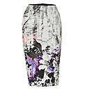 Helene Berman Forest-print Pencil Skirt
