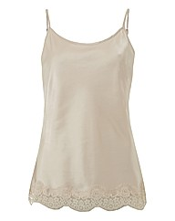 Passport Lace-trim Satin Camisole