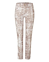 Passport Mottle-print Slim-leg Trousers