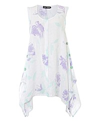 Eden Rock Rose-print Linen Tunic