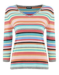 Gerry Weber Rainbow Stripe Cotton Jumper