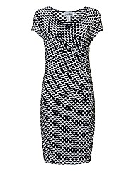 Joseph Ribkoff Jacquard Wrap Dress