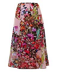 Basler Floral Chiffon Skirt