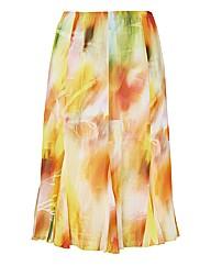 Frank Walder Printed Chiffon Skirt