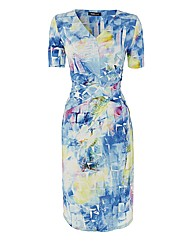 Frank Walder Printed Jersey Dress