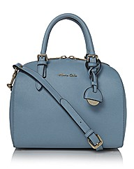Maria Carla Leather Bowling Bag
