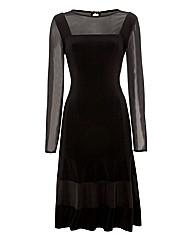 Michaela Louisa Mesh & Jersey Dress