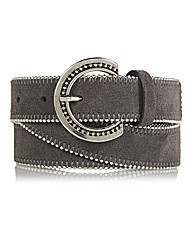 Gardeur Beaded Suede Belt