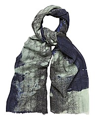 Bella Ballou Abstract Print Wool Scarf