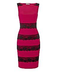 Gina Bacconi Scalloped Lace Panels Dress