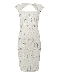 Gina Bacconi Lace Dress With Sequins