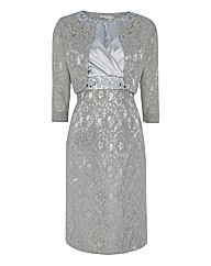 Gina Bacconi Lace Satin Dress
