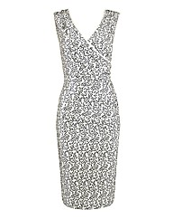 Gina Bacconi Sequinned Mock Wrap Dress