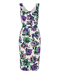 Gina Bacconi Floral Satin Dress