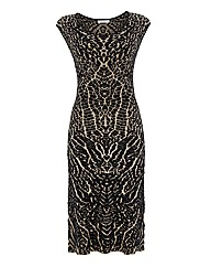 Gina Bacconi Jacquard Knit Dress