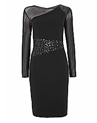 Gina Bacconi Sequin Panel Dress