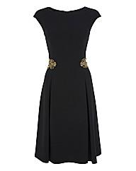 Gina Bacconi Waist Embellished Dress