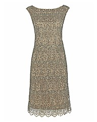 Gina Bacconi Lace Cap Sleeve Dress