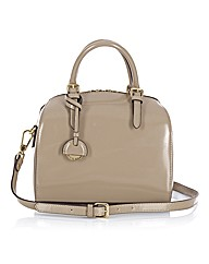 Maria Carla Leather Bowling Bag