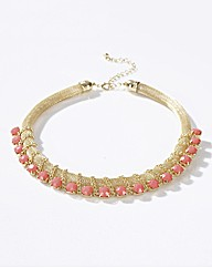 Adele Marie Faux Coral Necklace