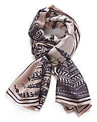 Bella Ballou Feather Print Scarf