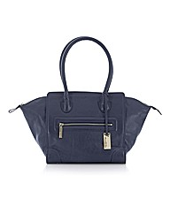 Sienna De Luca Leather Trapeze Tote Bag