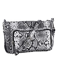 Markberg Snake Print Leather Bag