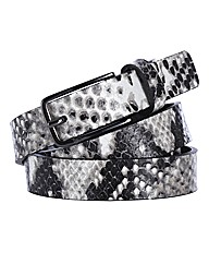 Markberg Snake Skin Print Belt