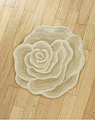 Sculptured Rose Wool Rug