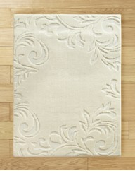 Damask Border Sculptured Rug