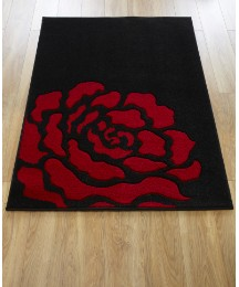 Carved Rose Rug