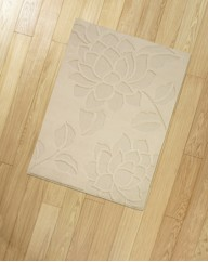 Lotus Flower Carved Rug