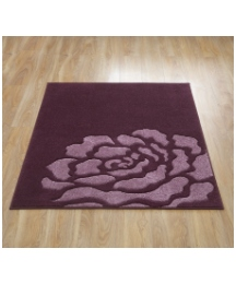 Carved Rose Large Rug