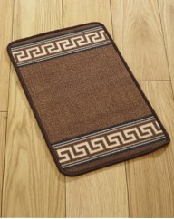 Greek Key Gel Backed Kitchen Mats & Runn